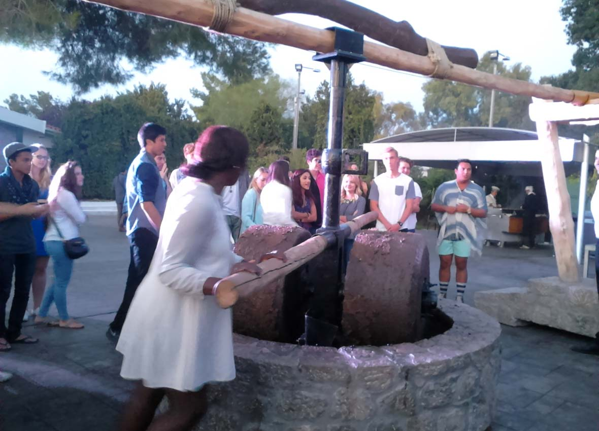 Traditional oil press, Oct 2015